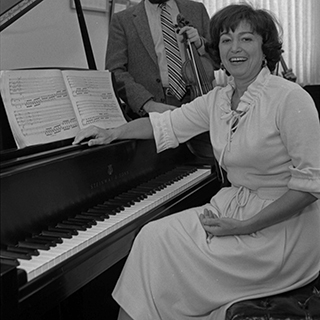 Pianist and Professor Emerita of Music Performance Pia Sebastiani