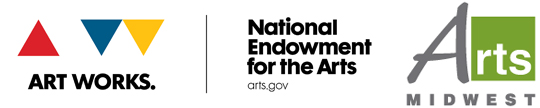 Logos for the National Endowment for the Arts and Arts Midwest