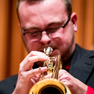 a jazz trumpeter performing