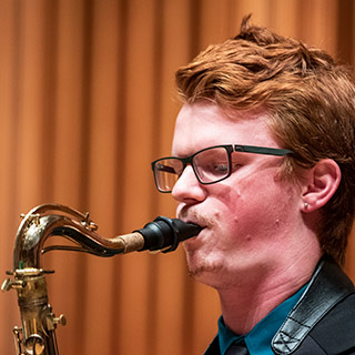 a jazz saxophonist performing