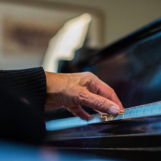 Left-handed pianist Norman Malone