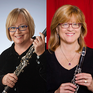 Clarinetists Trina Gross and Diana Haskell