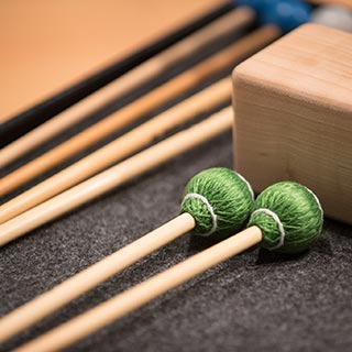 Mallets laying on a table
