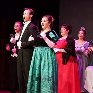 Opera singers during a performance