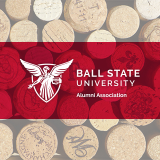 Wine corks with Alumni Association logo