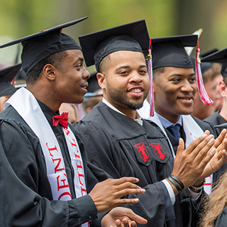 Ball State students at Commencement