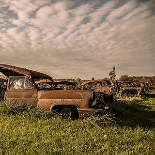 Photo of abandoned cars by Chris Flook