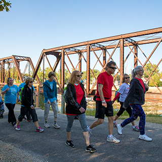 participants in Walk Indiana 2017